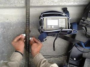 鉄筋継手部超音波探傷検査 鉄筋継手部超音波探傷検査 アンカーボルト長さ測定   株式会社建材サー